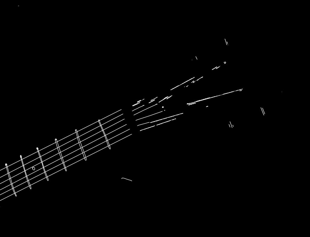 Illustration of guitar tuning