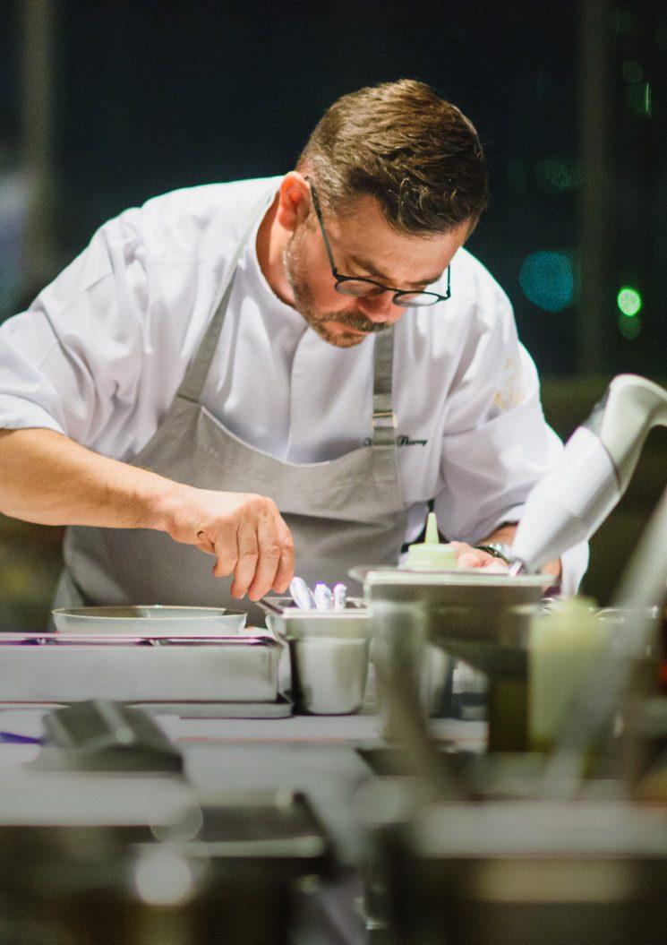 Chefs preparing dishes