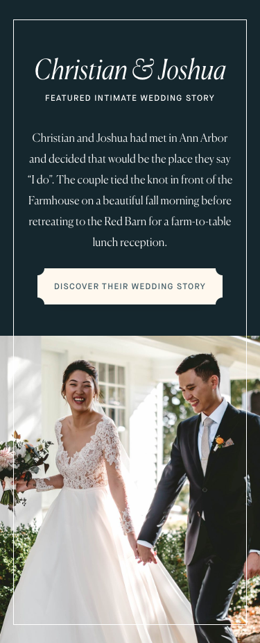 Screenshot of featured wedding module