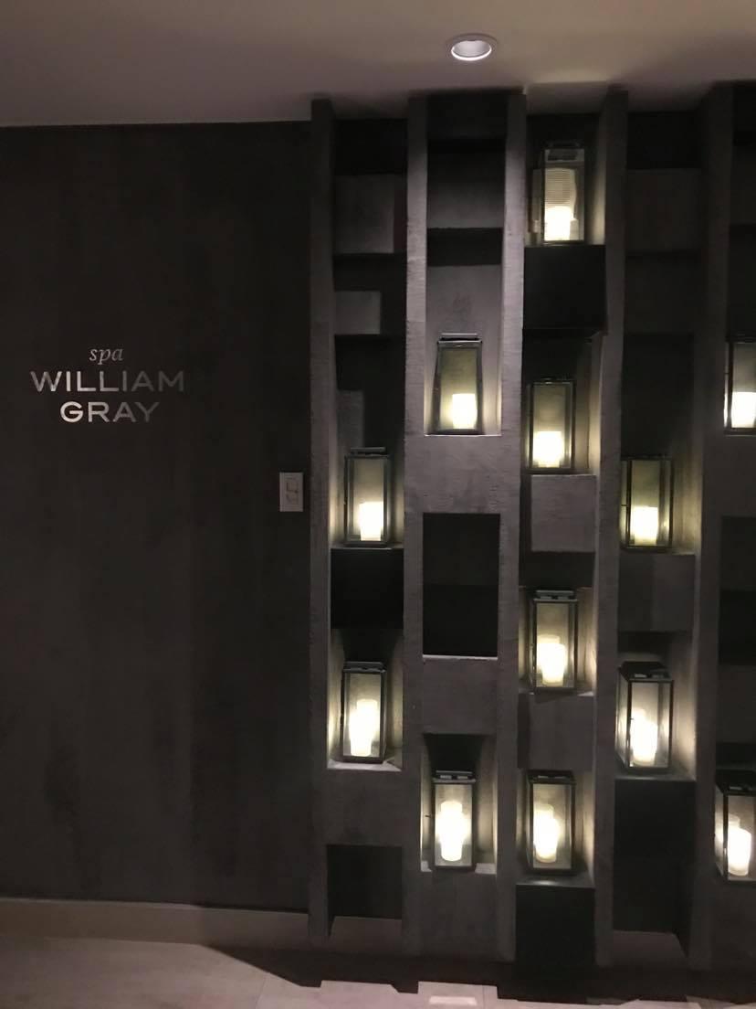 L'entrée du spa de l'Hôtel William Gray
