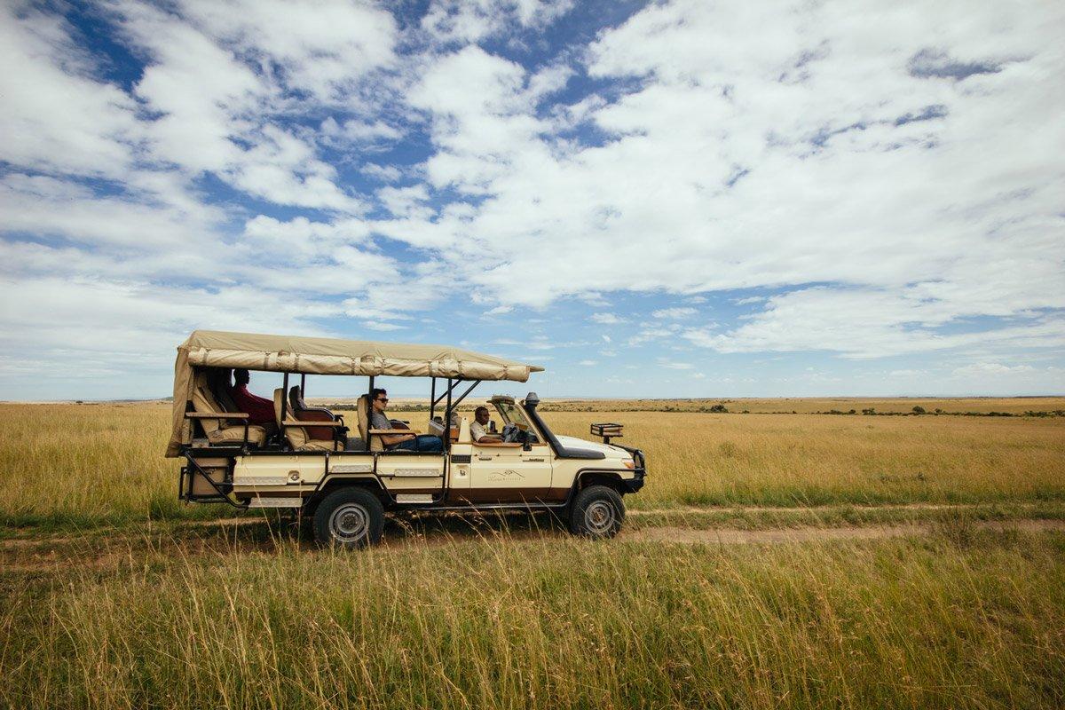 Safari truck at Bushtops Camps