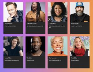 Screenshot of Adobe Max Speakers page